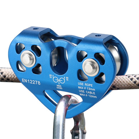 Lixada 30kN trolley pulley with ball bearing, climbing accessories, aluminum alloy rescue pulley - gadgetslines