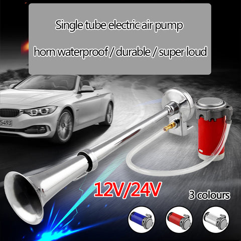 12V 24V Car Air Horn Super Loud High Quality Metal Horn Universal Single Trumpet Compressor 180 Hertz Horn Car Truck Train Moto - gadgetslines