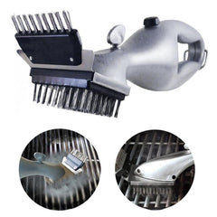 Stainless Steel BBQ Cleaning Brush Outdoor BBQ Grill Brush Barbecue Grill Cleaner Steam BBQ Accessories Cooking Tools - gadgetslines