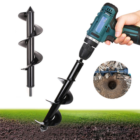 Garden Spiral Drill Bit Flower Planter Earth Auger For Electric Drill Modified Ground Drill Gardening Planting Hole Digger Tools -