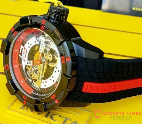 Authorization original INVICTA brand model:26617 26619 28592 Dial diameter 52mm Motor racing silicone belt Men's gyro Mechanical watches
