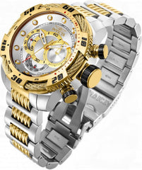 INVICTA WATCH SPEEDWAY VIPER MENS JAPAN QUARTZ 50MM STAINLESS STEEL FLAME FUSION CASE SILVER