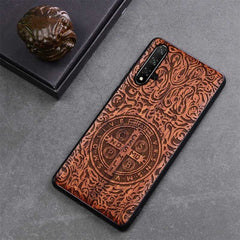 Honor 20 Case Boogic Original Real Wood funda Huawei Honor 20 Pro Rosewood TPU Shockproof Back Cover Phone Shell Honor20 case - gadgetslines