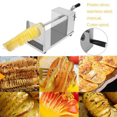 Hot Sale Manual Stainless Steel Twisted Potato Slicer Spiral French Fry Vegetable Cutter - gadgetslines