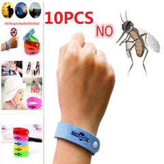 10Pcs  Eco Friendly Anti Mosquito Wristband Mosquito Insect Bugs Repellent Bracelet Safe For Children Home Outdoor Pest Reject - gadgetslines