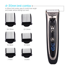 Professional Digital Hair Trimmer Rechargeable Electric Hair Clipper Men's Cordless Haircut Adjustable Ceramic Blade RFC-688B 49 -
