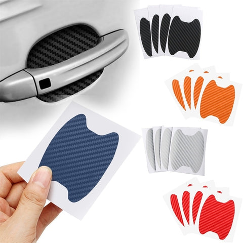 4Pcs/Set Car Door Sticker Carbon Fiber Scratches Resistant Cover Auto Handle Protection Film Exterior Styling Accessories - gadgetslines