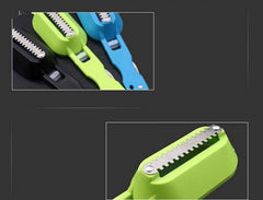1PC Multifunctional Fish Scale Cleaner Plastic Kitchen Fish Skin Scraper Brush Shaver With Cover Knife Seafood Tool OK 0408 - gadgetslines