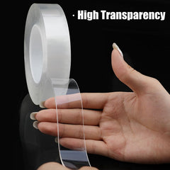 Double Sided Nano Magic Tape Recycle Use Strong Adhesive Waterproof Transparent Super Fix Gel Grip Tape Home Improvement - gadgetslines