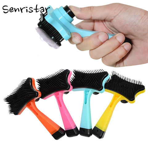 Pet Dog Hair Removal Comb Cat Fur Brush Grooming Tools Hair Clipper Dog Cat Shedding Hair Comb For Puppy Small Dog Pet Supplies - gadgetslines