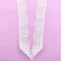 Stretch Elastic Lace Ribbon 30mm Wide White Lace Embroidered Cotton Elasticity Lace Trim Trimmings Clothing Underwear for Sewing -