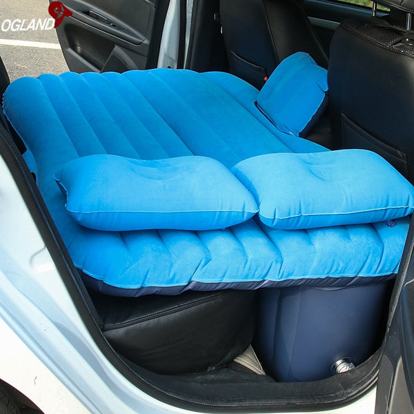 OGLAND Car Air Inflatable Travel Mattress Bed for Car Back Seat Mattress Multifunctional Sofa Pillow Outdoor Camping Mat Cushion -