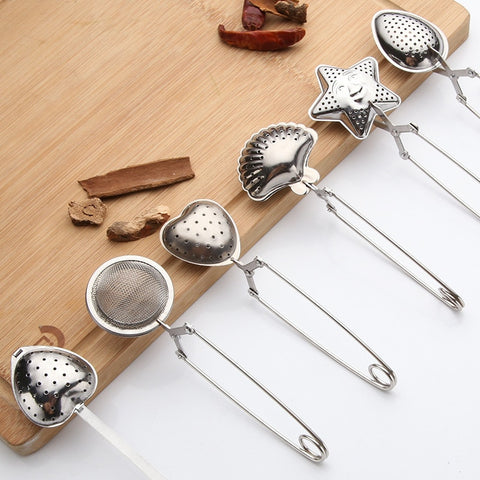 Tea Strainer Stainless Steel Handle Tea Ball Kitchen Gadget Coffee Herb Spice Filter Diffuser Tea Infuser - gadgetslines