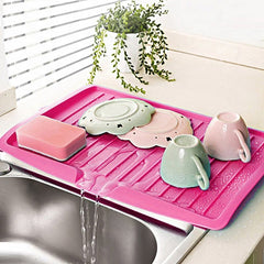 Drain Rack Kitchen Plastic Dish Drainer Tray Large Sink Drying Rack Worktop Organizer drying rack for dishes Dropshipping Newest -
