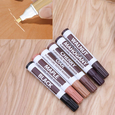 Wood Furniture Repair Pen Markers Scratch Filler Paint Remover For Wooden Cabinet Floor Tables Chairs - gadgetslines