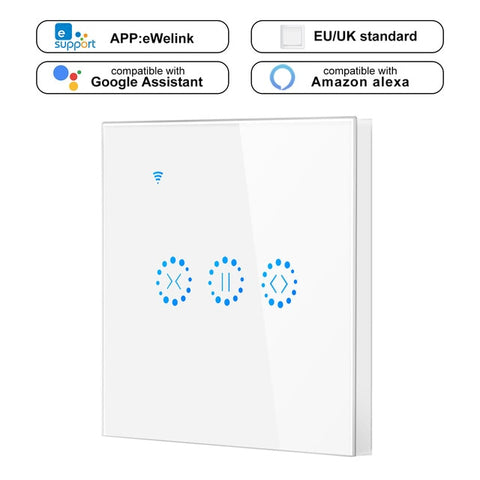 Smart Home WiFi Electrical touch smart Blinds curtain switch Ewelink APP Voice Control by Alexa Echo google home  Blinds Motor - gadgetslines