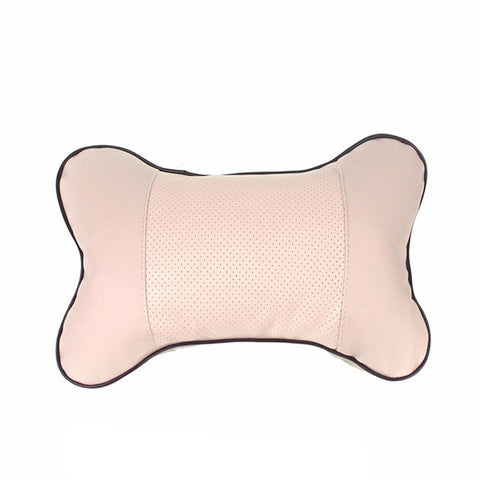 1pcs Universal Car Neck Pillows PVC Leather Breathable Mesh Auto Car Neck Rest Headrest Cushion Pillow Car Interior Accessories - gadgetslines