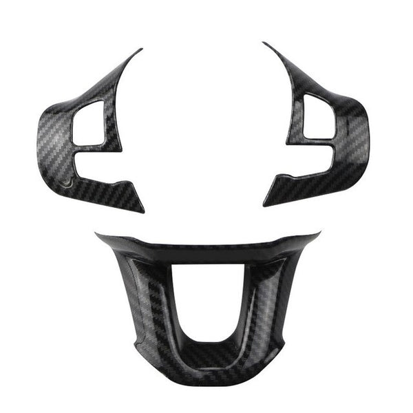 Zlord Car Steering Wheel Stickers for Peugeot 208 2015 2016 2017 2018 Steering Wheel Decorative Cap Sticker Trim Car Accessories -