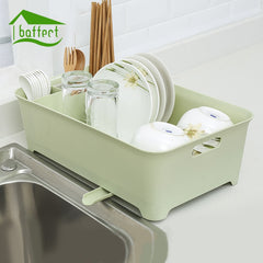 New Large Kitchen Plate Dish Cup Rack Utensil Cutlery Storage Holder Drainer Kitchen Tableware Drying Rack Dinnerware Organizer - gadgetslines