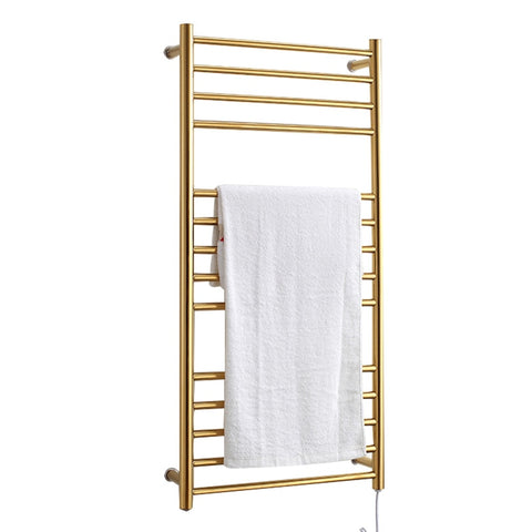 wall mounted 304 stainless steel waterproof Electric towel rack AC220-240V 50Hz 162W heating Electric bathroom towel rack - gadgetslines