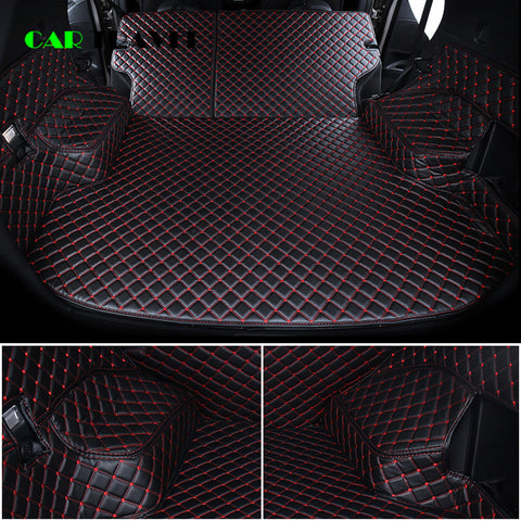 Custom leather Car Trunk Mats For Nissan X-Trail Rogue XTrail T30 T31 T32 2001 - 2018 Rear Trunk Floor Mat Tray Carpet Mud - gadgetslines