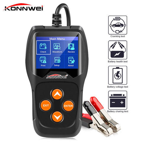 KW600 12V Car Battery Tester 100 to 2000CCA 12 Volt Battery tools for the car Quick Cranking Charging Diagnostic - gadgetslines