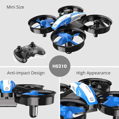 Holy Stone HS210 Mini Drone Boys Toy Headless Drones Mini RC Quadrocopter Quadcopter Dron One Key Land Auto Hovering Helicopter - gadgetslines