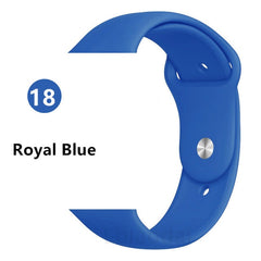Strap For Apple Watch band 38mm 42mm iWatch 4 band 44mm 40mm Sport Silicone belt Bracelet Apple watch 5 4 3 2 strap Accessories - gadgetslines