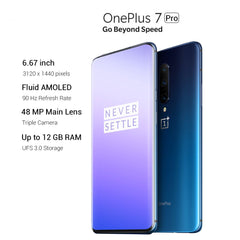 "OnePlus 7 Pro 6.67"" Octa Core NFC Mobile Phone Snapdragon 855 48MP Triple Camera 3120*1440 4000mAh Battery 4G LTE Smartphone - gadgetslines"