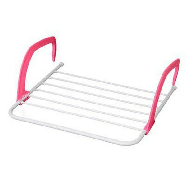 Portable Outdoor Folding Drying Rack Shoe Clothing Drying Rack Bathroom Towel Holder Rack Rail Shelf Bathroom Accessories - gadgetslines