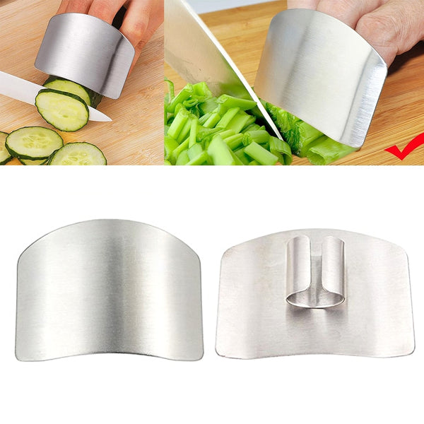 1 Pcs Finger Guard Protect Finger Hand Cut Hand Protector Knife Cut Finger Protection Tool Stainless Steel Kitchen Tool Gadgets - gadgetslines