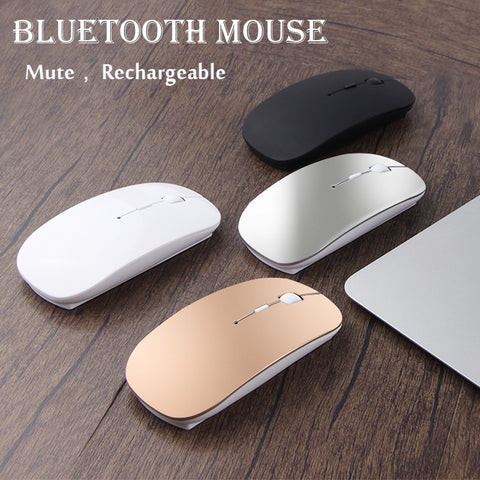 For Apple Macbook air For Xiaomi Macbook Pro Rechargeable Bluetooth Mouse For Huawei Matebook Laptop Notebook Computer - gadgetslines