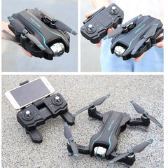 WIFI Drone 4K HD with Adjustable Wide Angle Camera FPV Real Time Aerial Video Foldable Quadrocopter Gesture Photo RC Dron Toys - gadgetslines