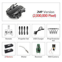 Foldable Mini Drone With RC Quadrocopter With Camera HD Quad-Counter With High Hold RC Helicopter VS E61 HS210 LF606 S9HW E016H - gadgetslines