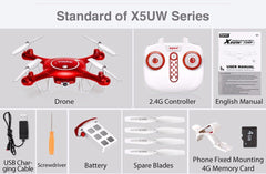 Syma X5UW Drone WiFi Camera HD 720P Real-time Transmission FPV 2.4G 4CH RC Helicopter Quadrocopter Mobile Control VS X5SW X5C - gadgetslines