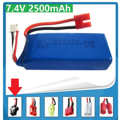 7.4V 2500mAh for Syma X8C X8W X8G quadrocopter high capacity Model aircraft rechargeable lipo 2S battery 25C 903480 for SM plug - gadgetslines