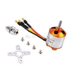 NEW A2217 2217 1100KV / 1250KV / 2300KV With Motor Mount Outrunner Brushless Motor For RC Fixing Wing Quadrocopter Multi-copter - gadgetslines