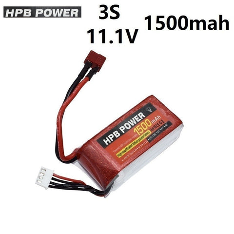 High Power 11.1V 1500mAh 35C Battery for RC Car Airplanes Spare Parts 3s lipo Battery for RC Quadrocopter 11.1v Battery HPB - gadgetslines