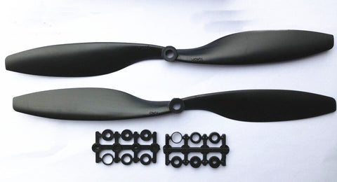 1045 3D RC-3D Propeller Paddle CW /CCW 1 Pair 10x4.5 Propeller Black Blade Props for RC Quadrocopter Multi-rotor Aircraft F01979 -