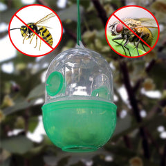 Wasp Trap Kill Pest Insect Fruit Fly Killer Traps Reject Hornet Catcher Hanging Tree Garden Tools Killing Bee Trapper Wasp Trap - gadgetslines