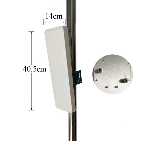 wifi antenna 30dBi 2.4g antenna indoor ourdoor Dual polarization Wall Mount Patch Panel Flat Antenna high quality factory price - gadgetslines