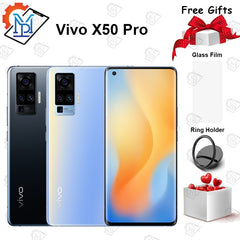 Original vivo X50 Pro 5G Mobile Phone 6.56 inch 8GB RAM + 128GB ROM Snapdragon 765G 60X Zoom 48.0MP Mainly Camera NFC Smartphone