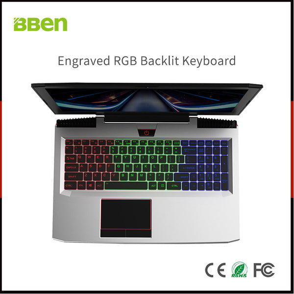 BBEN Laptop Nvidia GTX1060 GDDR5 Intel i7 Kabylake 8GB RAM M.2 SSD RGB Backlit Keyboard Win10 WiFi BT Gaming Computer 15.6'' IPS -