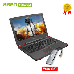 Bben G17 gaming laptop computers NVIDIA GTX1060 Intel i7-7700HQ 7th Gen. Kabylake 17.3inch pro windows10 licensed DDR4 RAM - gadgetslines