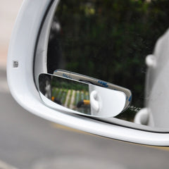 1 Pair Car Rear View Mirror Auto Safety Blind Spot Mirror Rotatable 360 Degree Adjustable Wide Angle Convex Mirror for parking - gadgetslines