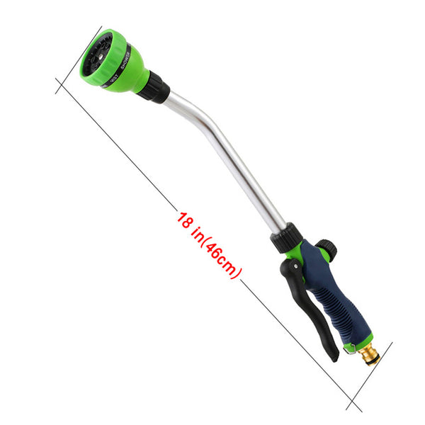 18in-Long rod spray gun Eight modes Garden water guns Home irrigation tool Plant Watering Car washing Pet cleaning - gadgetslines
