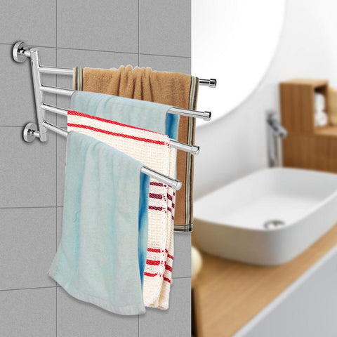 "14.17"" Anti-rust Stainless Stainless Steel Rotating Towel Rack Bath Rail Hanger Towel Holder 4 Swivel Bars Bathroom Wall Mounted -"