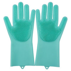 Silicone Dishwashing Gloves Bathroom Kitchen Cleaning Gloves Housework Magic Gloves Cleaning For House Insulation Tools - gadgetslines