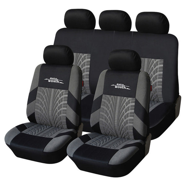 AUTOYOUTH Automobiles Seat Covers Universal Front and Rear Full Set Car Seat Cover Vehicle Seat Protector Interior Accessories - gadgetslines