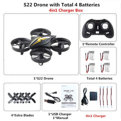 Mini Drone RC Drone Quadcopter Headless Mode Quadrocopter One Key Return RC Helicopter VS H36 E010 Dron Best Toys For Kids - gadgetslines